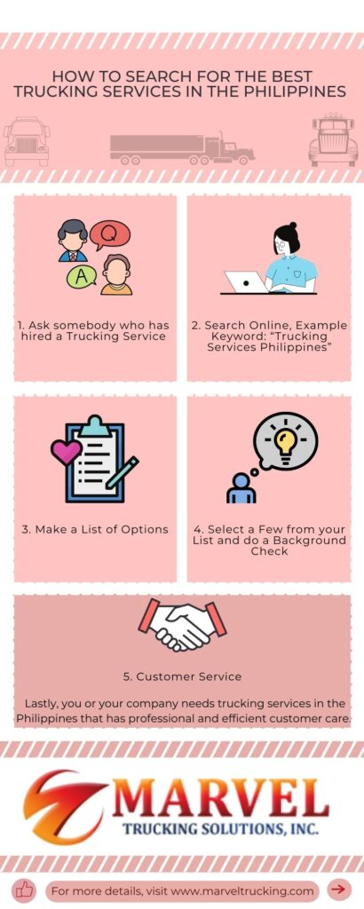 How to Search for the Best trucking services IN the Philippines