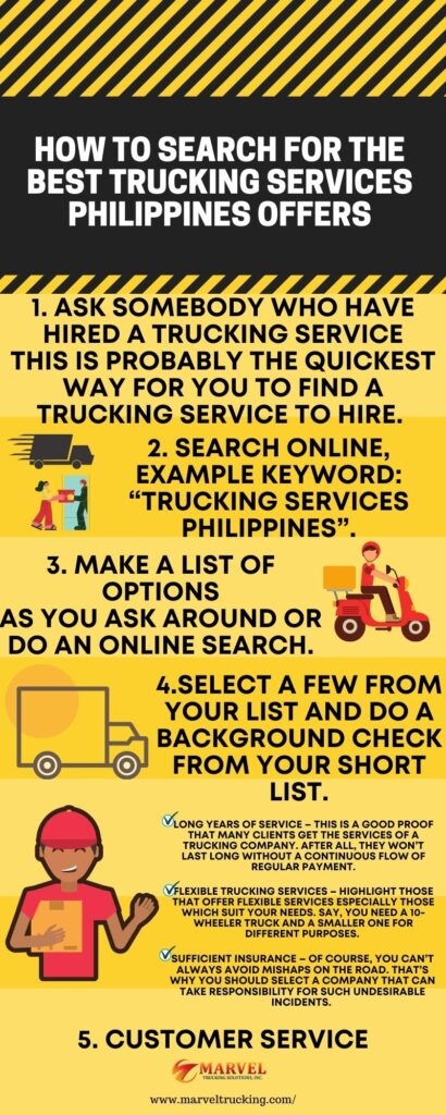How to Search for the Best trucking services Philippines Offers 2