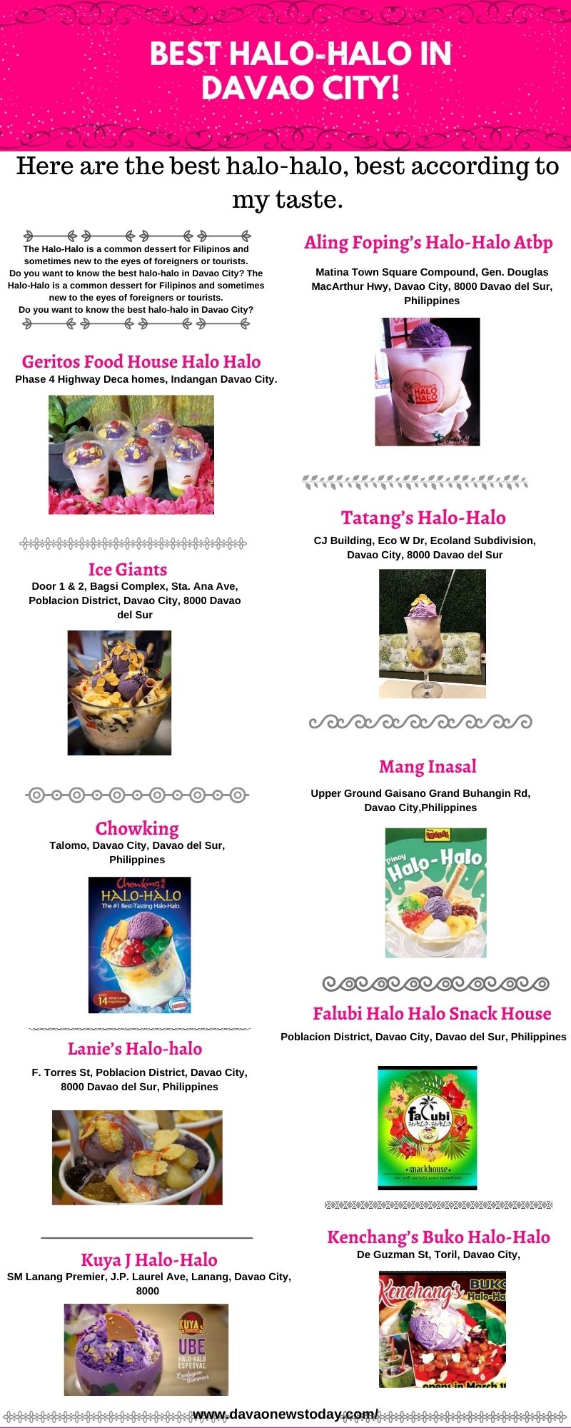 Top 10 Best Halo Halo in Davao City 2